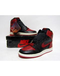 (SOLD OUT) NIKE AIR JORDAN 1 HIGH OG Black Red from 1985 Brand New Deadstock 7us (4281)