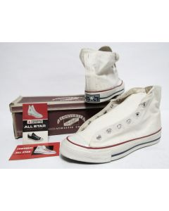 VINTAGE CONVERSE CHUCK TAILOR WHITE from 1960s Brand New DS Condition 9us