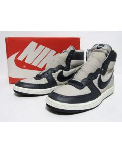 NIKE TERMINATOR HIGH CANVAS OG SOFT GREY NAVY BLUE from 1985 Brand New DS 7.5us (9740)