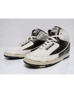 NIKE AIR PYTHON OG WHITE BROWN SNAKE SKIN from 1987 Brand New Deadstock 8.5us (conditional pairs - insole inside cracked)
