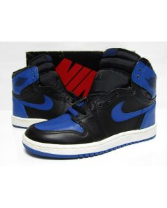 NIKE AIR JORDAN 1 HIGH OG BLACK ROYAL BLUE from 1985 Brand New Deadstock 7.5us (4282)
