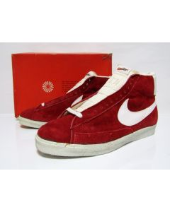 NIKE BLAZER SUEDE HI OG Red Suede White Made in Japan from 1970s Brand New DS with OG Box 12.5us (4125)