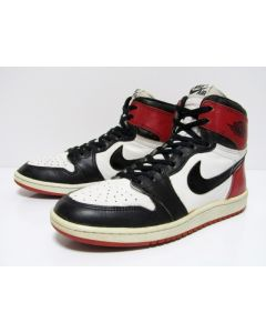NIKE AIR JORDAN 1 HIGH OG ''Black Toe'' from 1985 Pre-owned Excellent Condition 9.5us