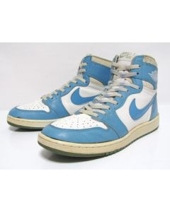 NIKE AIR JORDAN 1 HIGH OG White North Carolina from 1985 Pre-Owned Excellent Condition 12us