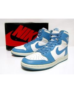 NIKE AIR JORDAN 1 HIGH OG White North Carolina from 1985 Very Near Dead Stock Condition 8.5us