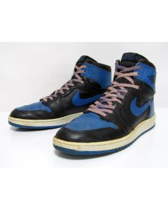 NIKE AIR JORDAN 1 HIGH OG BLACK ROYAL BLUE from 1985 Pre-Owned Excellent Condition 11us (4282)