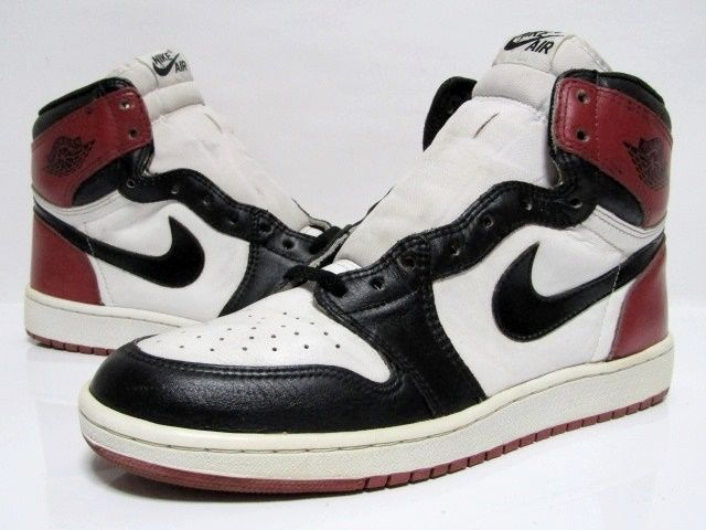 new styles 0037f 30371 (SOLD OUT) NIKE AIR JORDAN 1 HIGH OG   Black Toe   from 1985 VNDS 11.5us