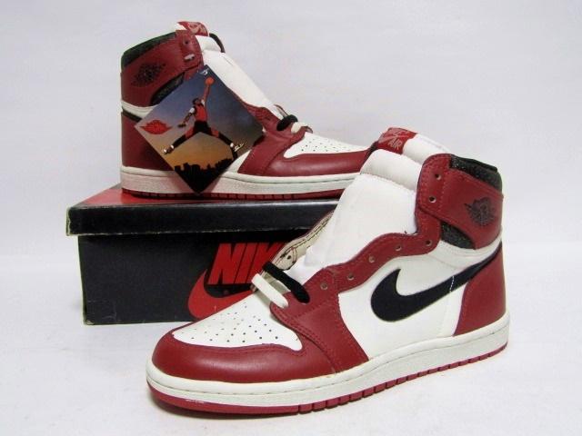 0343ff150e2b2a NIKE AIR JORDAN 1 HIGH OG CHICAGO White Black Red from 1985 Brand New  Deadstock 9us (4280)
