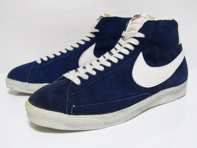 more photos 93ecc 7b02a NIKE BLAZER SUEDE HI OG Blue Suede White Made in Taiwan from 1970s VNDS  with No …