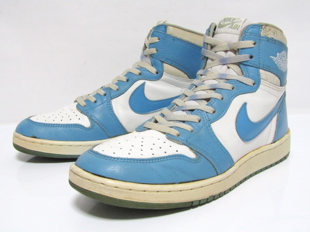 ead32abe NIKE AIR JORDAN 1 HIGH OG White North Carolina from 1985 Pre-Owned  Excellent Co …